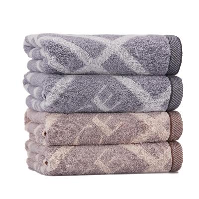 洁丽雅(grace)2条装纯棉枕巾一对成人四季加厚柔软大枕头毛巾情侣枕巾