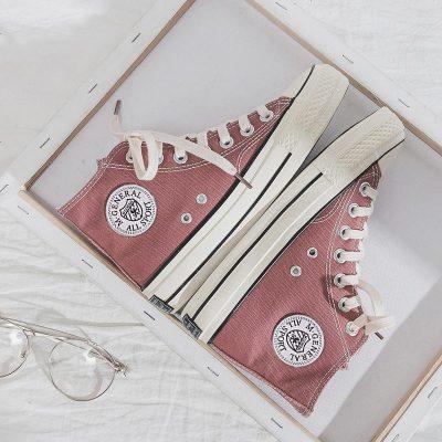 高帮儿童帆布鞋中大童2019年春季新款韩男童休闲鞋女童小白鞋板鞋