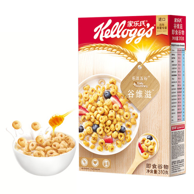 家乐氏(Kellogg's)谷维滋310g 即食燕麦片 泰国进口冲调 营养谷物早餐