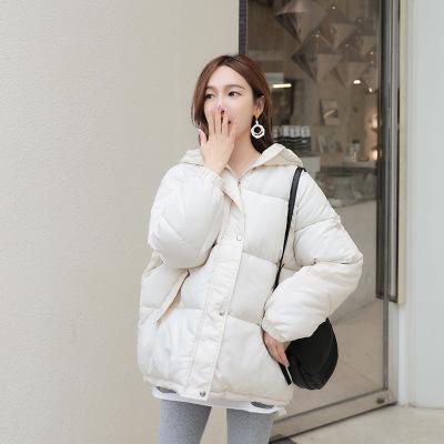 班俏BANQIAO小香風棉服女2020冬季新款韓版超火加厚保暖短款寬松反季棉衣外套