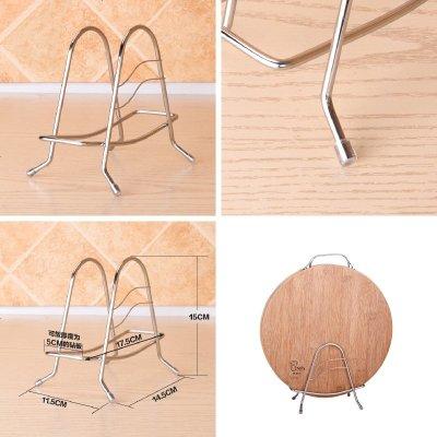304不銹鋼切菜板砧板架子廚房用品置物架案板架菜墩刀板架鍋蓋架
