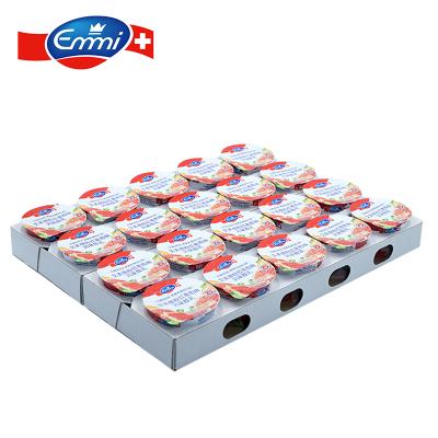 艾美Emmi粉红葡萄风味酸乳100g*20 瑞士原装进口酸奶 活性乳酸菌无添加浓稠低温酸奶早餐奶