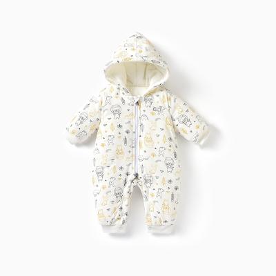 童泰秋冬新款嬰兒衣服純棉加厚連體哈衣3-24個月男女寶寶連身衣嬰童棉服
