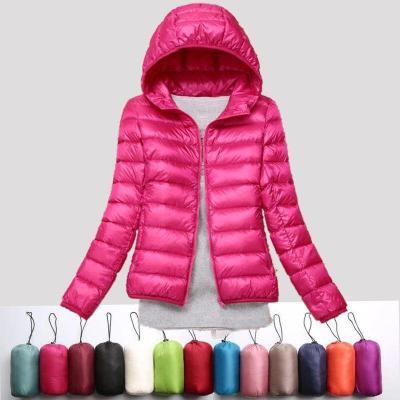 【S-8XL】連帽秋冬新款輕薄羽絨服女韓版短款胖妹妹大碼外套