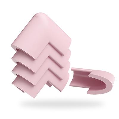【棒棒猪】U型玻璃防撞角8个装(BBZ-09S)粉色
