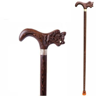 文明棍 雞翅木龍頭拐杖實木老年防滑拐棍老人用品手杖紅木質文明杖
