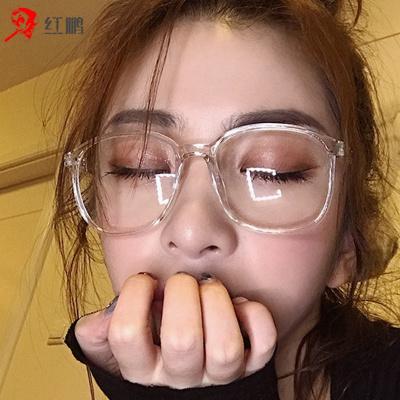 【廠家直供】防藍光網紅款手機電腦護眼睛近視防輻射眼鏡女平光鏡圓框男無度數防輻射眼鏡瑞希羅