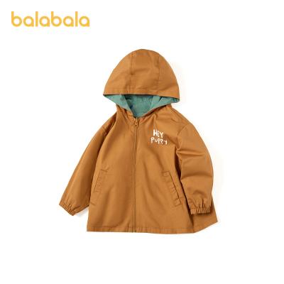 巴拉巴拉男童外套兒童秋裝寶寶童裝小童純棉時尚文藝兩面穿風衣潮