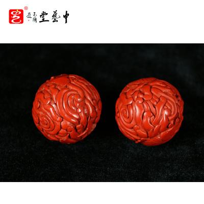 中藝盛嘉杨之新漆器中式古典家居摆件中藝堂收藏品雕漆手球