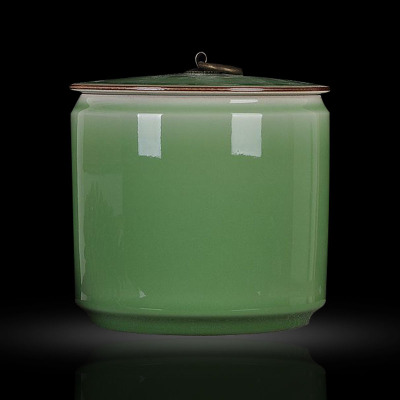 古笙記 景德鎮陶瓷器圓形糖果儲物罐 茶葉罐家居裝飾品擺件客廳廚房擺設