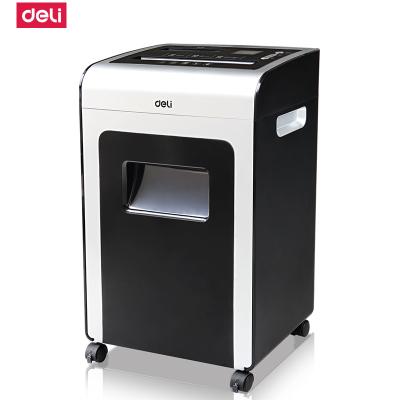 得力deli9917办公碎纸机电动大功率超静音粉碎机条状多功能净化碎纸机