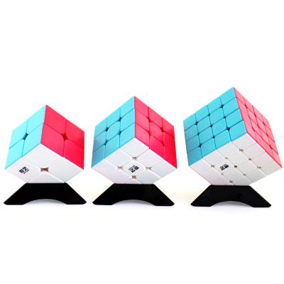 奇藝魔方三階順滑2345階套裝比賽專用學生初學專業兒童玩具啟迪S+勇士W+啟源S+四件套魔方(顏色隨機)
