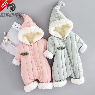 【品牌特卖】婴儿羽绒棉服连体衣加厚冬装爬服男女宝宝保暖冬季外出连身抱衣潮