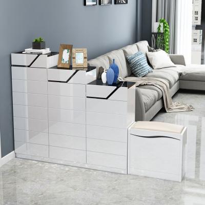 汐巖入戶家用客廳玄關柜進鞋柜簡約現代超薄烤漆隔斷柜大容量廳柜