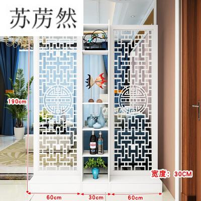 简约现代屏风隔断双面玄关柜镂空花移动客厅厅卧室小户型座屏