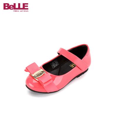 百麗童鞋兒童皮鞋公主鞋2020春季學生鞋禮儀鞋舞蹈鞋黑色女童單鞋
