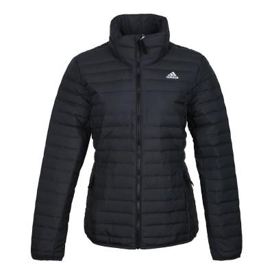 阿迪達斯(adidas)秋冬新款女子運動外套立領防風保暖羽絨服CY8729