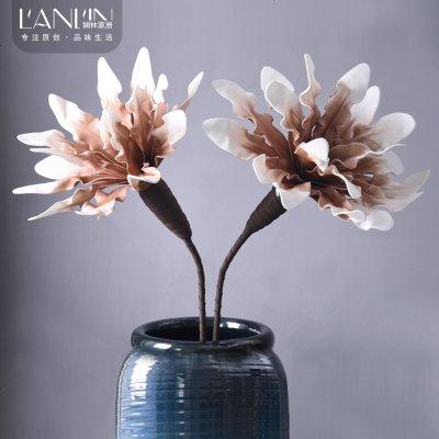 客廳臥室假花仿真花擺件裝飾花絹花干花擺設梧桐花仿真花束裝飾品