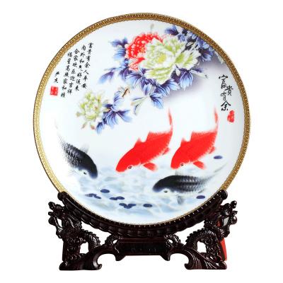 每日精進(enhancement) 裝飾盤子陶瓷器擺件景德鎮工藝品創意家居裝飾博古架擺設酒柜花瓶