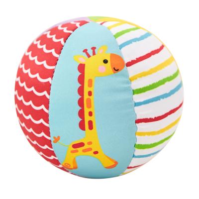 费雪(Fisher Price)动物认知球 宝宝手抓球 婴儿球玩具摇铃球铃铛球 布球婴儿六面认知球F0806