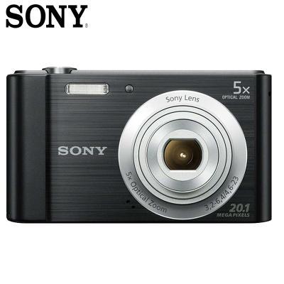 索尼(SONY)DSC-W800 數碼相機/照相機/卡片機 CMOS傳感器 2.7英寸顯示屏 2010萬像素 黑色