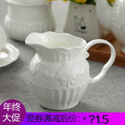 巴洛克宫廷欧式浮陶瓷咖啡奶罐拉花缸下午茶奶罐奶壶奶盅