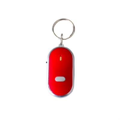 【官方授權】智能紅外燈鑰匙防丟器追回輕松定位吹口哨找回尋物搜索器聲音報警 紅色 二個裝