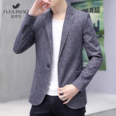 富贵鸟 男士 西服 男 西装 单西 外套 正装 青年 2019 秋季 新品 新款 修身 小 男款 新郎 伴郎 礼服 中年