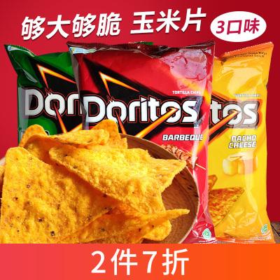 印尼进口多力多滋玉米片劲浓芝士烧烤味160g膨化零食大包装休闲小吃