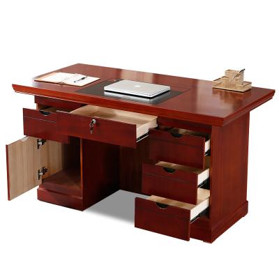 麥德嘉 1.6米木皮辦公桌帶副臺