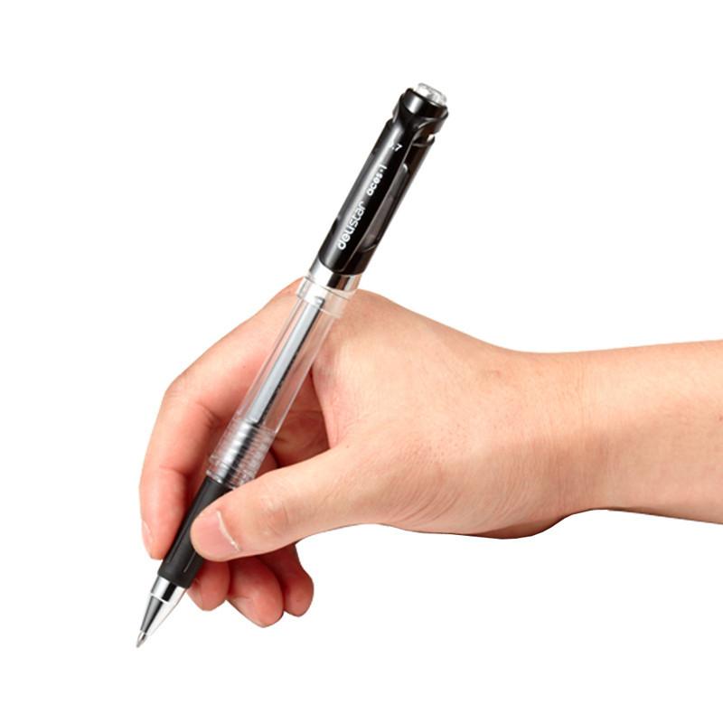 得力deliS20中性笔 签字笔办公中性笔 0.7mm 弹簧头笔芯黑色 24支