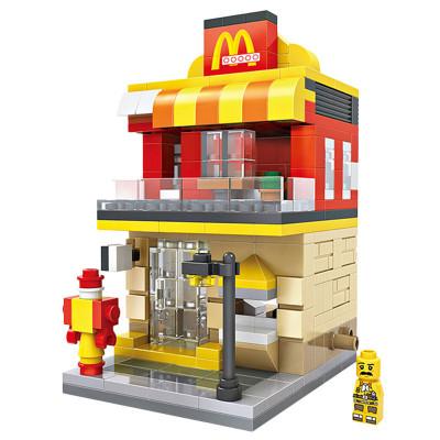 LOZ/俐智小颗粒积木迷你街景益智拼插儿童玩具拼装模型男女孩汉堡店1607