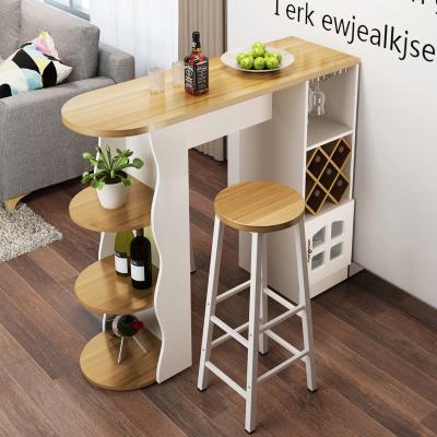 家用吧臺桌簡約現代咖啡閃電客桌酒柜客廳餐廳隔斷柜轉角簡易靠墻歐式