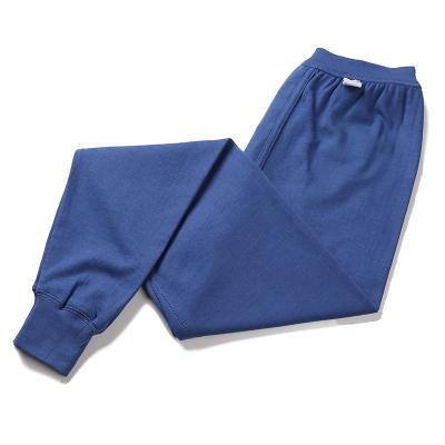 男士女士純棉單件單條秋褲線褲棉春秋保暖加大碼 加厚