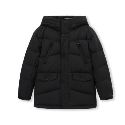 巴拉巴拉兒童羽絨服男童女童冬季連帽大童外套中性加厚保暖中長款