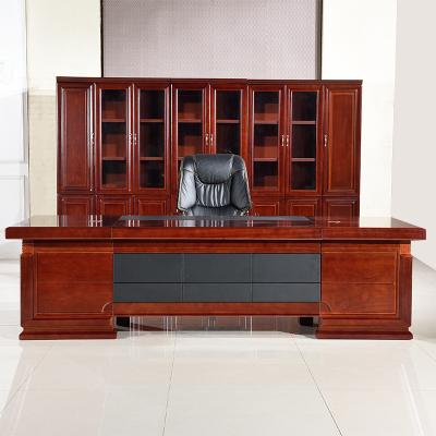 鑫環境 辦公家具老板桌總裁桌桌椅組合大班臺辦公桌經理桌貼實木皮主管桌