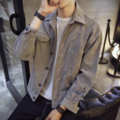 夾克男寬松2020春秋季新款男士外套大碼韓版潮流休閑工裝夾克衫UYUK