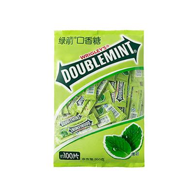 【特惠購16.9元/袋】綠箭口香糖100片箭牌薄荷糖清涼糖送女友禮物零食