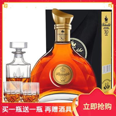 法國原酒進口 皇家騎士40度洋酒白蘭地干邑XO 700ml*1瓶 禮盒裝
