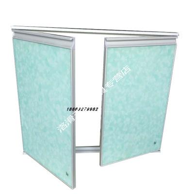 橱柜定做带外框晶钢钢化玻璃带框灶台柜大理石柜体厨柜 电泳白外框全套