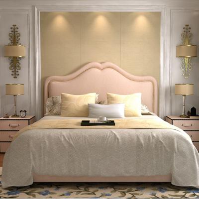 簡約現代輕奢布藝床閃電客ins公主兒童少女床雙人主臥軟包床心形床