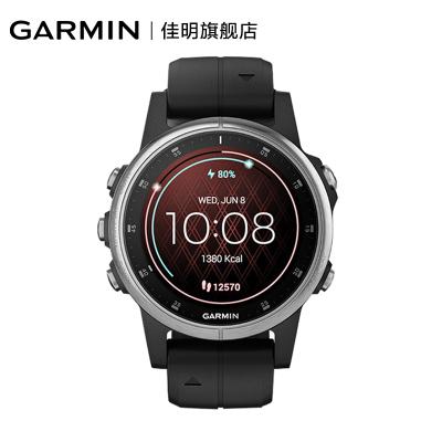 佳明GARMIN飛耐時5sPlus健身音樂時尚NFC支付GPS導航戶外運動功能手表防水深度值100m(動力銀普通鏡面)