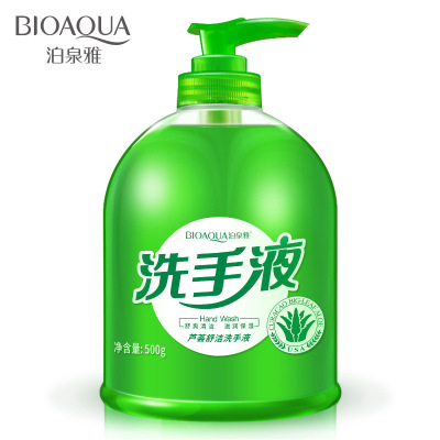 蘆薈潔凈護理洗手液500ml泡沫清潔型水潤保濕滋潤持久清香家庭裝