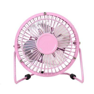 時尚迷你USB風扇子靜音小型風扇子學生宿舍辦公生活 4寸 粉色