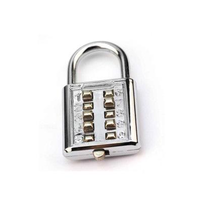 Fonoun 加強型密碼鎖 行李密碼鎖 防水防銹 金屬材質 銀色