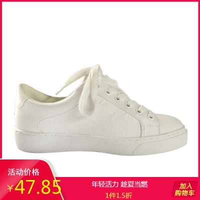 Daphne/達芙妮正品新款女靴系帶圓頭休閑款舒適小白鞋1018101258