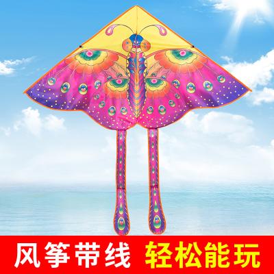 蝴蝶風箏帶線輪套裝 濰坊小卡通初學者大型成人微風易飛兒童新款