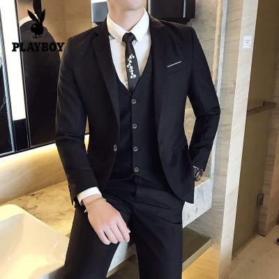 花花公子 ( PLAYBOY ICON )西服套裝男商務修身款職業上班正裝西裝結婚新郎伴郎外套男