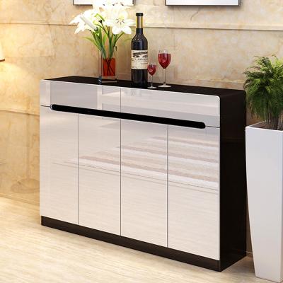 方合子家具 鞋柜 简约现代烤漆宜家大容量欧式实木超薄白色田园玄关门厅柜
