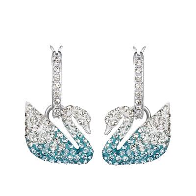 Swarovski 施华洛世奇 女士蓝色人造水晶耳环 5512577